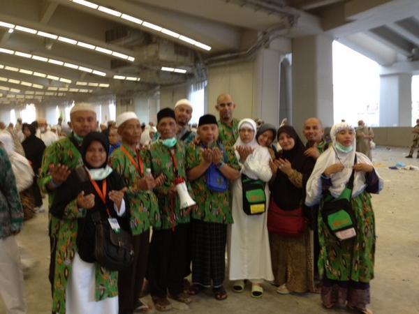 Dokumentasi Haji 2012 PT Gema SHafa Marwa Selepas Melempar Jumroh